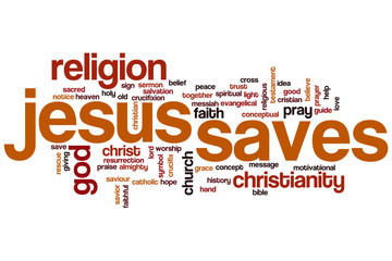 Jesus saves word cloud
