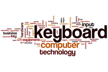 Keyboard word cloud