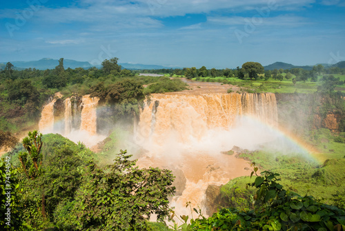 Staande foto Afrika Tiss abay Falls on the Blue Nile river, Ethiopia