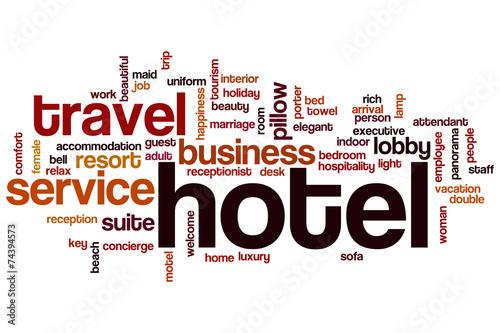 Obraz na Plexi Hotel word cloud