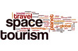 canvas print picture - Space tourism word cloud