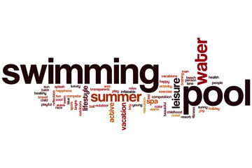 Swimming pool word cloud