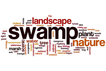 Swamp word cloud