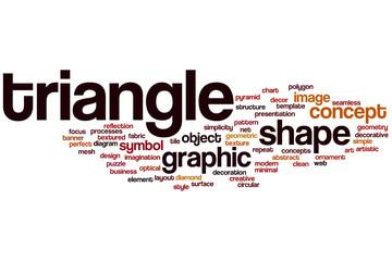 Triangle word cloud
