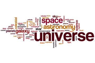 Universe word cloud