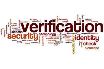 Verification word cloud