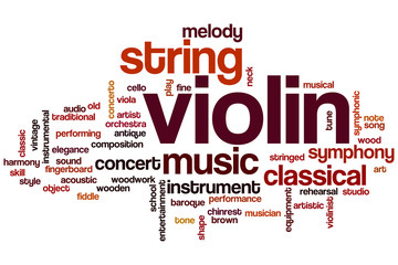 Violin word cloud
