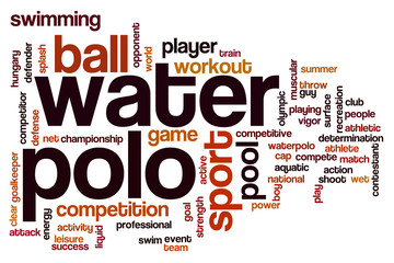 Water polo word cloud