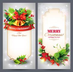 Christmas banners set. Vector