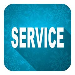 service flat icon, christmas button