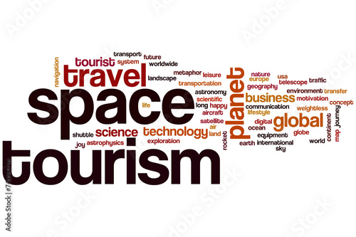 canvas print picture Space tourism word cloud