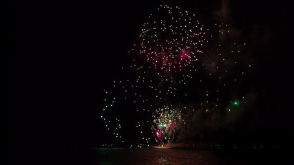 international Festival of pyrotechnic art in Mauritius
