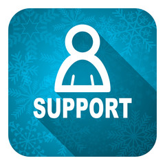support flat icon, christmas button