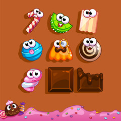 Icons candy for the game interface