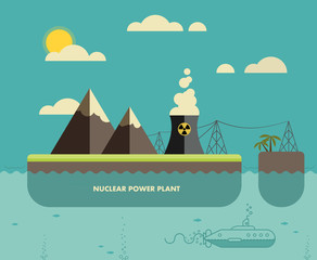 Ecology Concept. Environment, Green Energy and Nature Pollution
