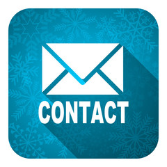 email flat icon, christmas button, contact sign