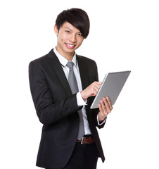 Businessman use tablet