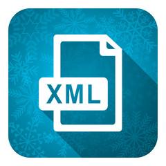 xml file flat icon, christmas button