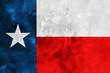 Grunge flag of Texas