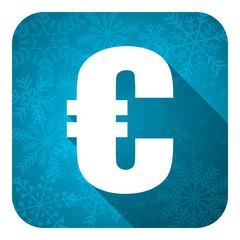 euro flat icon, christmas button