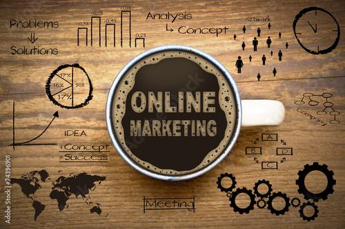 Leinwandbild Motiv online marketing