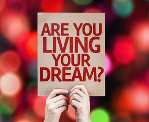 Are You Living Your Dream? card with colorful background