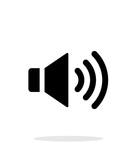 Volume max. Speaker icon on white background.
