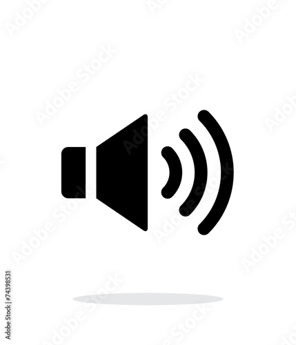 Volume max. Speaker icon on white background. - 74398531