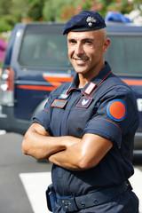 Italian policeman carabinier