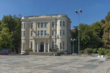 Old house with interesting facade.  Plovdiv town, Bulgaria