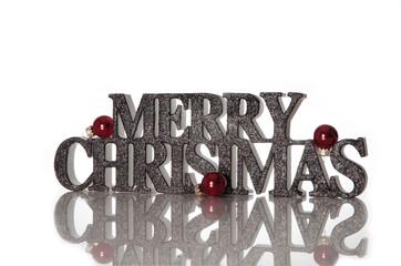 Frohe Weihnachten Schriftzug auf Englisch in 3D