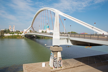 Seville - Barqueta bridge (Puente de la Barqueta)