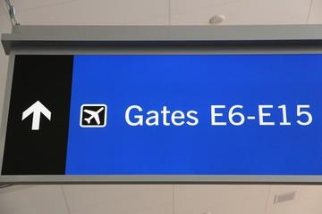 Airport signs in Las Vegas airport