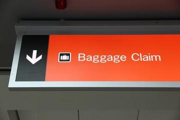 Baggage claim sign in Las Vegas airport