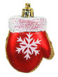 Bright Christmas tree toy red mitten