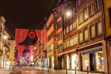 Rue du Vieux Marche aux Poissons on the Christmas season 2014 in