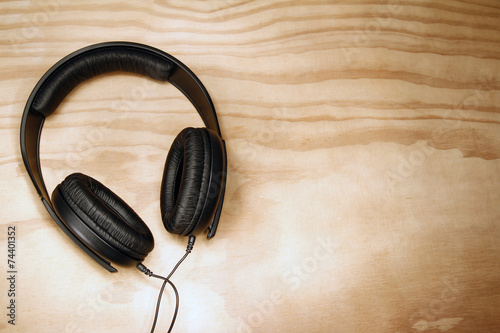 Leinwanddruck Bild Headphones