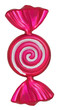 Bright Christmas tree toy pink candy