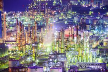 Factories in Yokkaichi, Japan