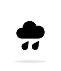 Downpour weather icon on white background.