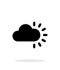Cloudy weather icon on white background.