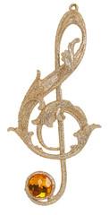 Christmas treble clef toy