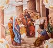 Little Jesus teaching in the temple fresco - Slovakia - 74401920