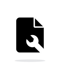 Repair File icon on white background.