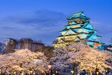 Osaka Castle in the Spring