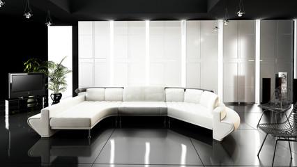 Appartamento, Rendering 3d progetto, interior, salotto