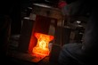 canvas print picture - Hot iron in smeltery