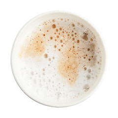 paper cup espresso coffee with foam