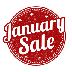 January sale stamp