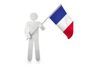 """Figur mit Fahne """"Frankreich"""""""